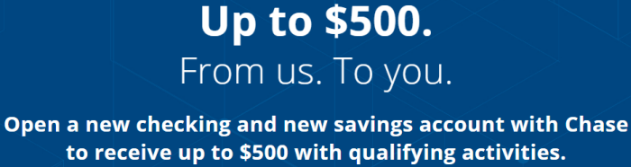 Chase savings account coupon code