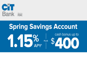 CIT Bank $400 Savings Bonus 1