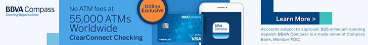 BBVA Compass ClearConnect Checking