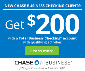 Chase Total Business Checking $200 Coupon