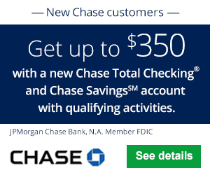 Chase Total Checking And Savings $350 Coupon